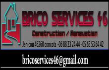 Logo de Brico Services 46, société de travaux en Maçonnerie : construction de murs, cloisons, murage de porte