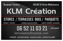 Logo de KLM Création, société de travaux en Fourniture et pose de stores intérieur