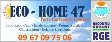 Logo de Eco-home47, société de travaux en Remplacement / dépannage de climatisation