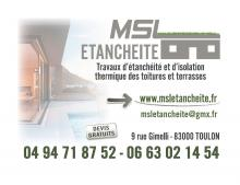 Logo de MSL ETANCHEITE, société de travaux en Etanchéité - Isolation des terrasses