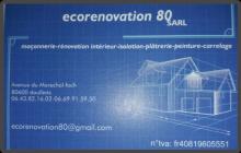 Logo de ECORENOVATION80, société de travaux en Aménagement de combles