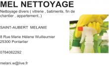 Logo de MEL NETTOYAGE, société de travaux en Nettoyage de vitre
