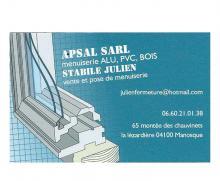 Logo de SARL, société de travaux en Fourniture et installation d'un bloc porte