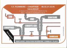 Logo de E.F PLOMBERIE-CHAUFFAGE, société de travaux en Plomberie : installation ou rénovation complète