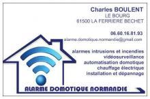 Logo de ALARME DOMOTIQUE NORMANDIE, société de travaux en Alarme domicile