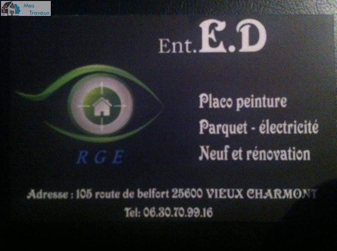 Logo de E.D PLACO-PEINTURE, société de travaux en Construction, murs, cloisons, plafonds en plaques de plâtre