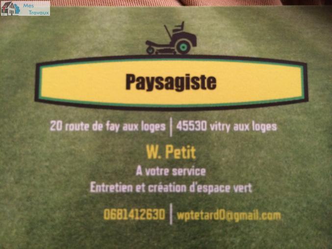 Logo de Petit paysagiste, société de travaux en Création de jardins, pelouses et de parcs