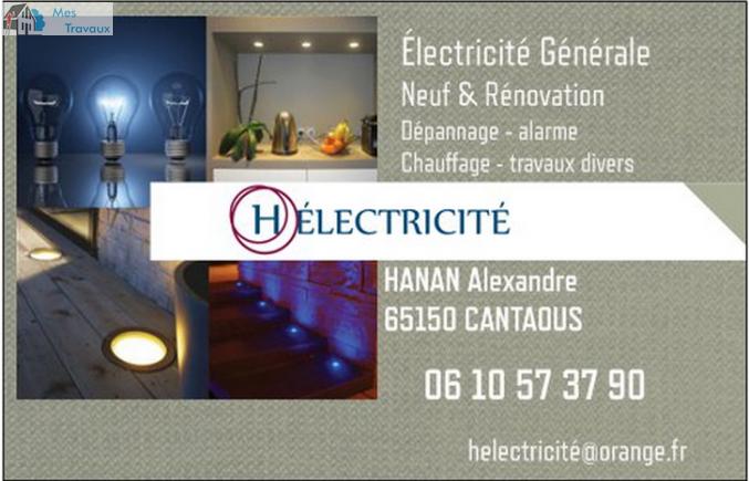 Logo de helectricite, société de travaux en Dépannage électrique