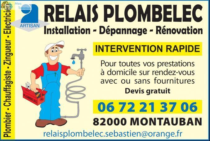 Logo de RELAIS  PLOMBELEC, société de travaux en Dépannage électrique