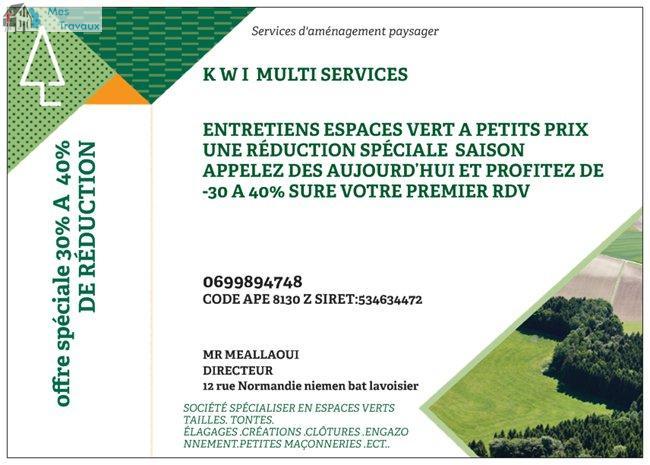 Logo de k w i multiservices, société de travaux en Entretien de jardin (ponctuel ou à l'année)