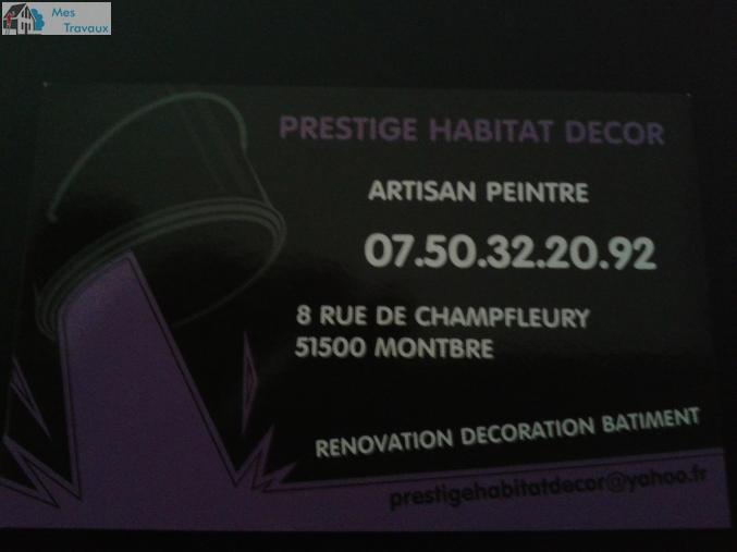 Logo de Prestige Habitat Decor, société de travaux en Ravalement de façades