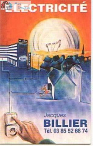 Logo de SARL Jacques BILLIER Electricite, société de travaux en Dépannage électrique