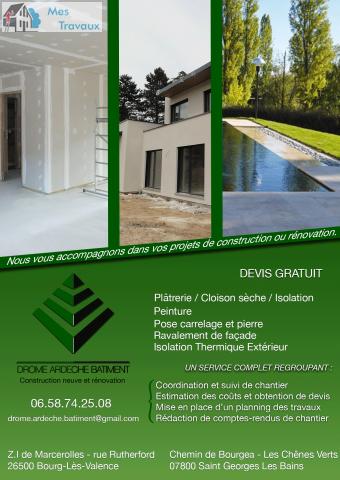 Logo de DROME ARDECHE BATIMENT, société de travaux en Rénovation complète d'appartements, pavillons, bureaux