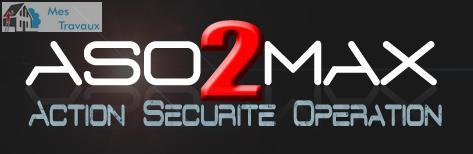 Logo de ASO2MAX, société de travaux en Gardiennage