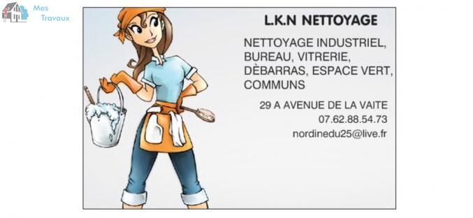 Logo de LKN NETTOYAGE, société de travaux en Nettoyage de copropriété