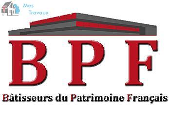 Logo de BâTISSEURS DU PATRIMOINE FRANçAIS, société de travaux en Isolation thermique des façades / murs extérieurs