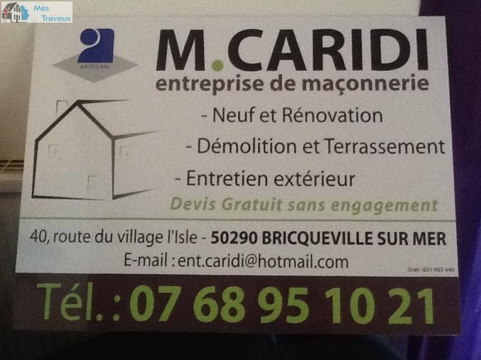 Logo de M.CARIDI ENTREPRISE DE MAçONNERIE, société de travaux en Construction de maison