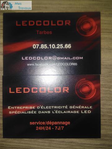Logo de LEDCOLOR, société de travaux en Dépannage électrique