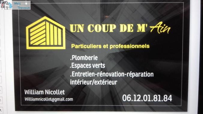 Logo de UN COUP DE M'AIN, société de travaux en Création complète de salle de bains