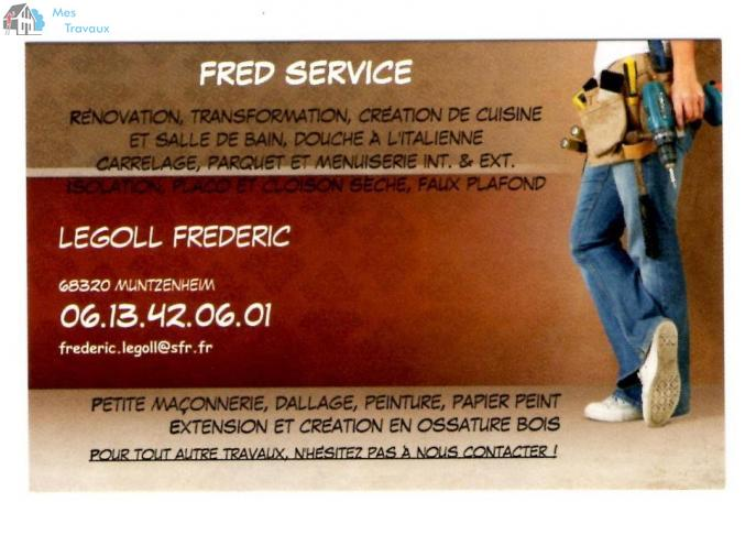 Logo de FRED SERVICE, société de travaux en Création complète de salle de bains
