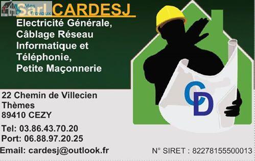 Logo de SARL CARDESJ, société de travaux en Installation électrique : rénovation complète ou partielle