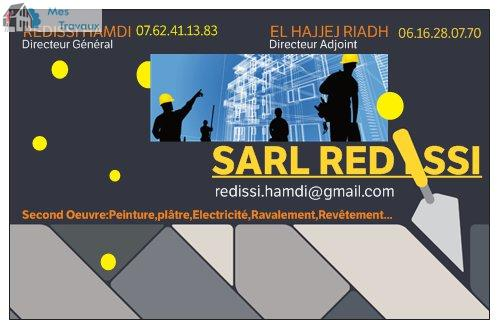 Logo de SARL REDISSI, société de travaux en