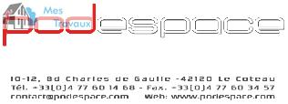 Logo de PODESPACE, société de travaux en Travaux divers
