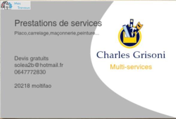Logo de CHARLES GRISONI MULTI SERVICES, société de travaux en Aménagement de combles