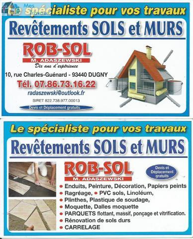 Logo de ROB-SOL, société de travaux en Fourniture et pose de linos