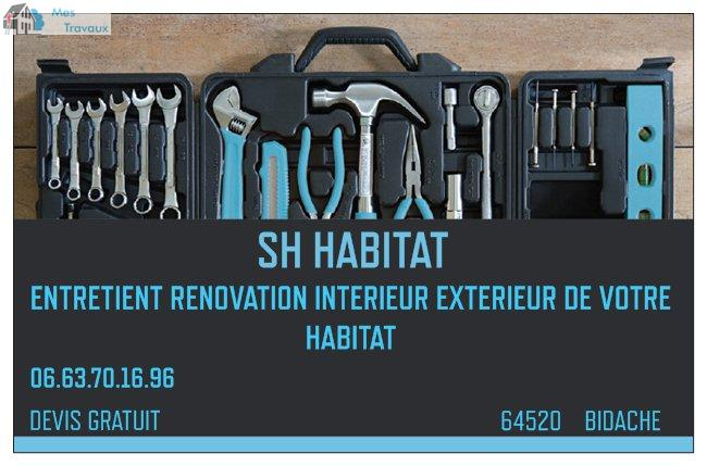 Logo de SH HABITAT, société de travaux en Travaux divers