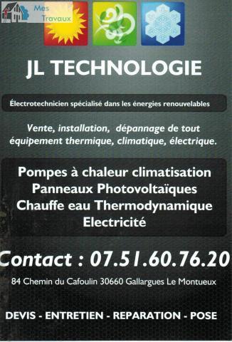 Logo de JL TECHNOLOGIE, société de travaux en Dépannage électrique