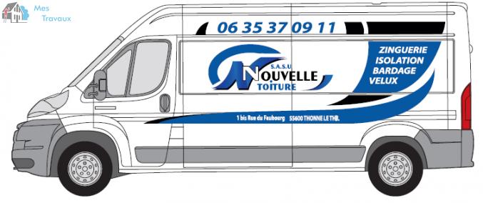 Logo de NOUVELLE TOITURE, société de travaux en Rénovation ou changement de votre couverture de toit