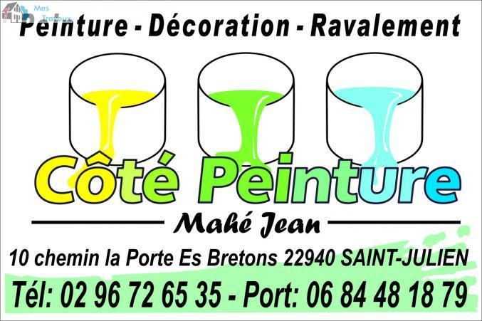 Logo de COTé PEINTURE, société de travaux en Travaux de décoration