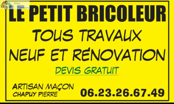 Logo de LE PETIT BRICOLEUR, société de travaux en Construction de maison