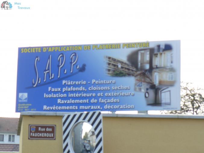 Logo de SOCIETE D'APPLICATION DE PLATRERIE PEINTURE, société de travaux en Aménagement de combles