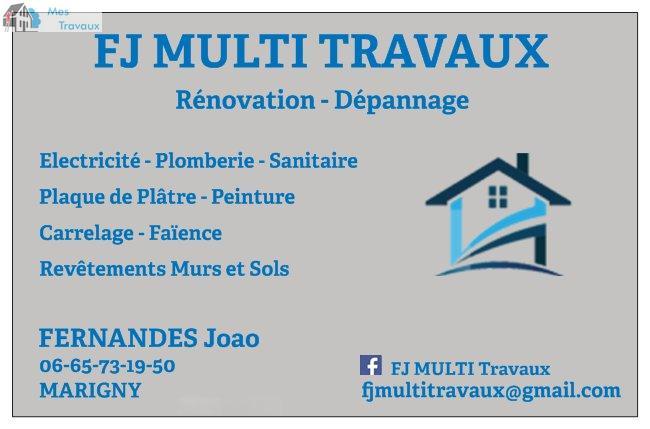 Logo de FJ MULTI TRAVAUX, société de travaux en Changements de vitres cassées