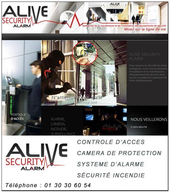Logo de ALIVE SECURITY ALARM, société de travaux en Alarme domicile