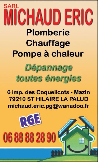 Logo de MICHAUD ERIC, société de travaux en Chauffage - Chaudière - Cheminée