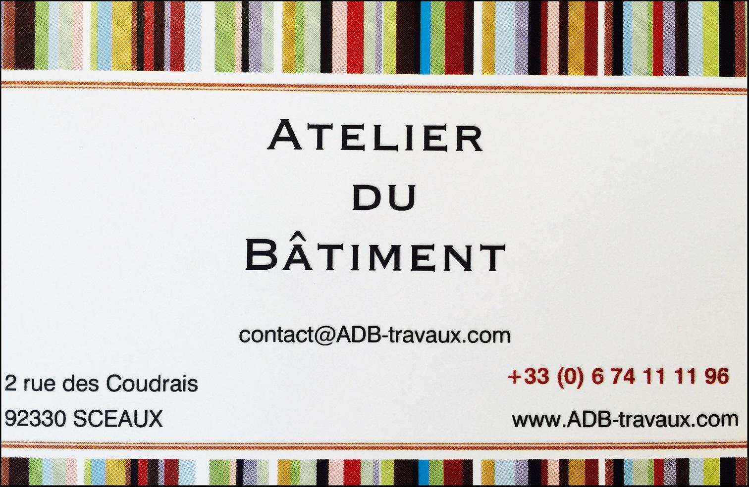 Logo de ATELIER DU BâTIMENT, société de travaux en Rénovation complète d'appartements, pavillons, bureaux