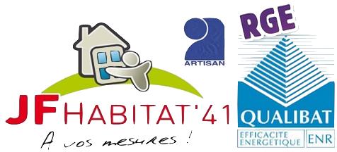 Logo de J F HABITAT\'41, société de travaux en Fourniture et remplacement de porte ou fenêtre en PVC