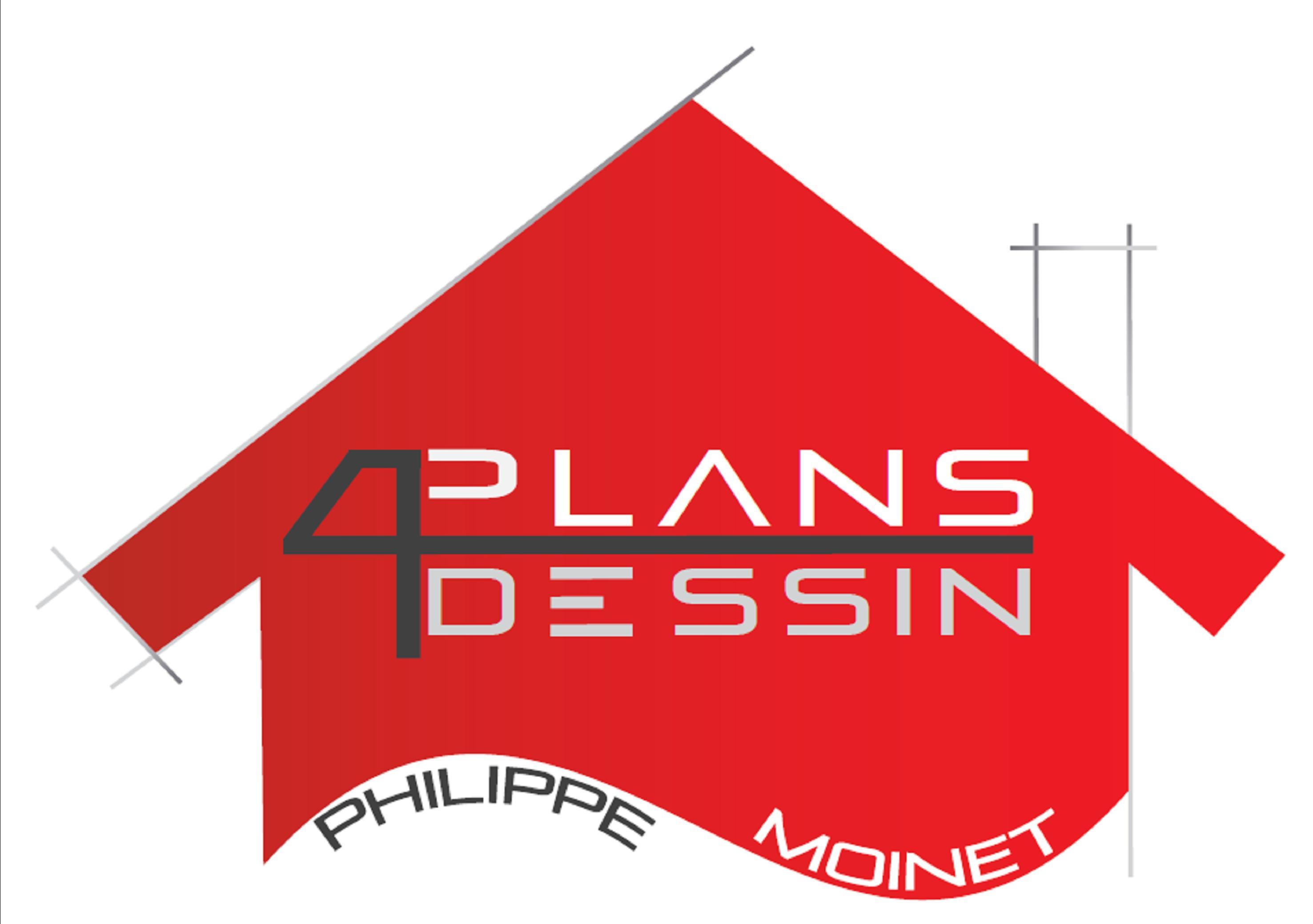 Logo de MOINET PHILIPPE - PLANS DESSINS, société de travaux en Architecte (construction ou rénovation de maisons individuelles)