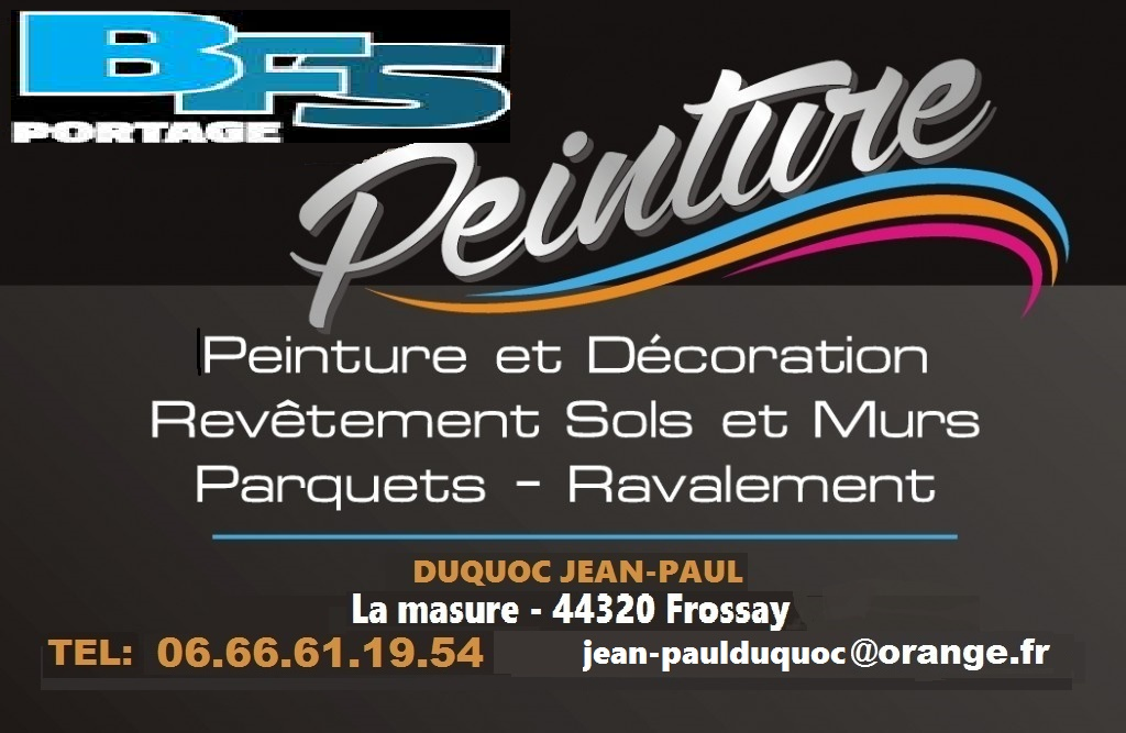 Logo de bfs portage peinture, société de travaux en Nettoyage toitures et façades
