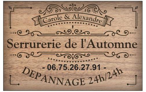 Logo de serrurerie de l'automne, société de travaux en Fourniture et pose de linos