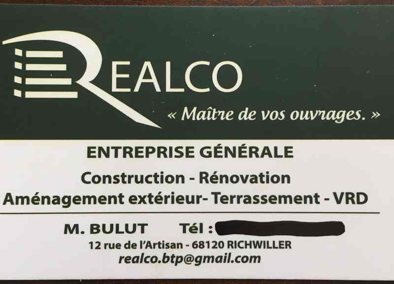Logo de Realco btp, société de travaux en Terrassement
