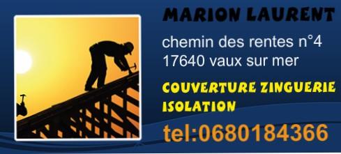 Logo de couverture MARION Laurent, société de travaux en Couverture complète (tuiles, ardoises, zinc)