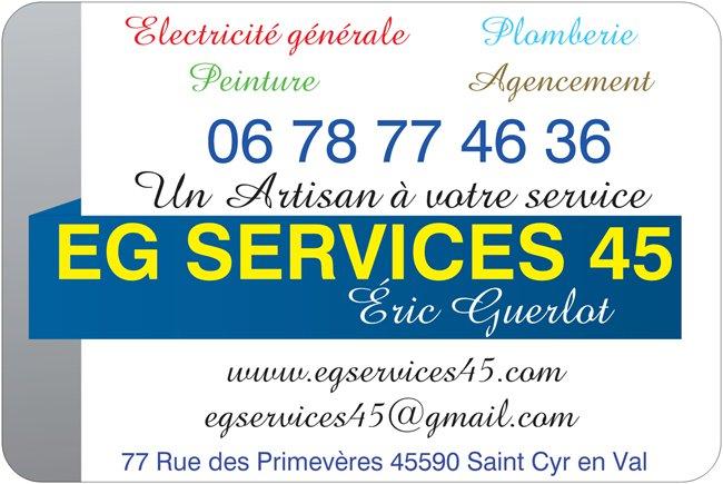 Logo de egservices45, société de travaux en Installation électrique : rénovation complète ou partielle