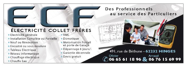 Logo de Sarl electricite collet freres, société de travaux en Installation électrique : rénovation complète ou partielle
