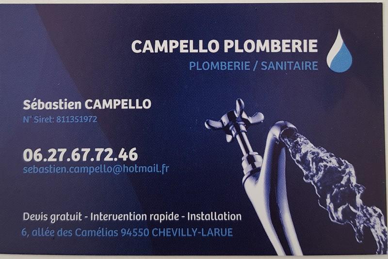 Logo de Campello plomberie, société de travaux en Dépannage en plomberie : fuite, joints, petits travaux