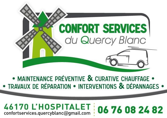 Logo de CONFORT SERVICES du QUERCY BLANC, société de travaux en Dépannage de chaudière, chauffe-eau, chauffe-bains