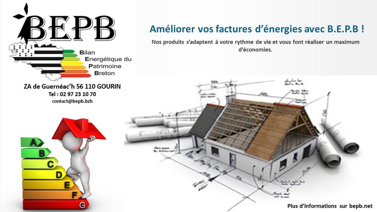 Logo de BEPB( Bilan Energétique du Patrimoine Breton, société de travaux en Installation VMC (Ventilation Mécanique Contrôlée)